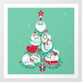 A Very Purry Christmas Art Print