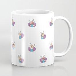 Butterfly Emoticon Pattern Arf Coffee Mug