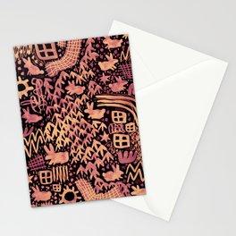 Autumn Bunnies Stationery Cards