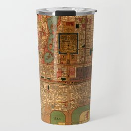 Map Of Peking 1914 Travel Mug