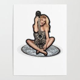 Kylie Minogue Golden Guitar Poster