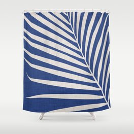 Indigo Palm - Vintage Botanical Shower Curtain