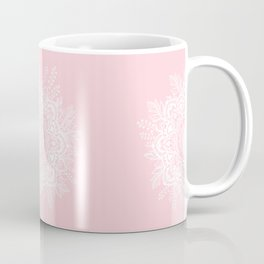 Mandala Bohemian Summer Blush Millennial Pink Floral illustration Coffee Mug