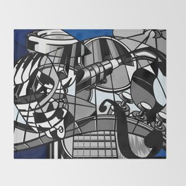 Jam Session (Euphony) Throw Blanket