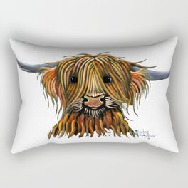 Scottish Highland Cow ' HARLEY ' by Shirley MacArthur Rectangular Pillow