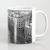 madrid Mugs featuring Madrid by Cristina Serrano