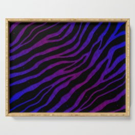 Ripped SpaceTime Stripes - Blue/Purple Serving Tray