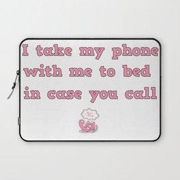 call me! Laptop Sleeve