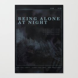 Poster design: Night Canvas Print