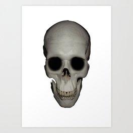 Human Skull Vector Isolated Art Print