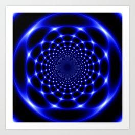 Indigo lotus abstract Art Print