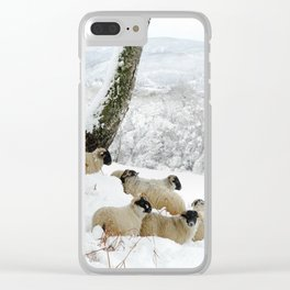 Sheltering Flock Clear iPhone Case