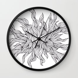 Seaweed design 1 Wall Clock