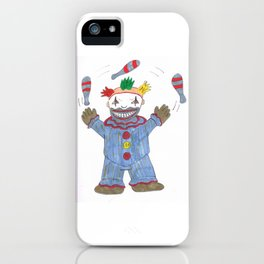 Creepy Twisty Clown iPhone Case