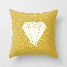 Space Diamond (gold) Throw Pillow