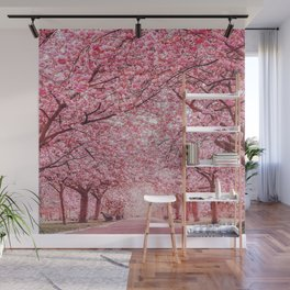 Cherry Blossom in Greenwich Park Wall Mural