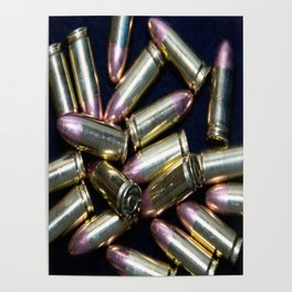 Cluster of 9mm Ammo Poster