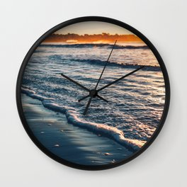 Sunrise Walk on the Beach Wall Clock