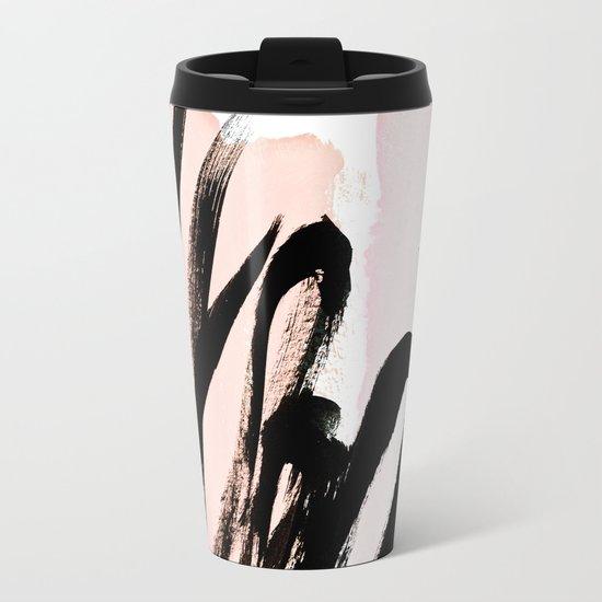strokes on blush Metal Travel Mug