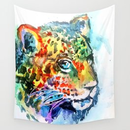 Rainbow Jaguar on the Prowl Wall Tapestry