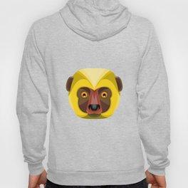 Diademed Sifaka Lemur Head Flat Icon Hoody