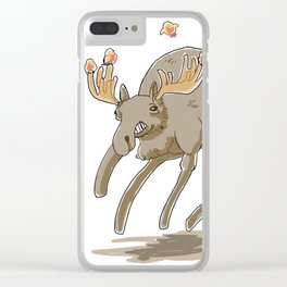 Greg the moose Clear iPhone Case