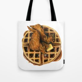 Chicken and Waffles Tote Bag