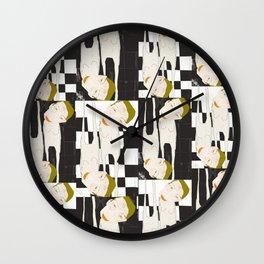 « sur le carreau, les délaissés » Wall Clock