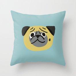 Smile Pug Throw Pillow