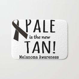Pale is the New Tan Melanoma Awareness Bath Mat