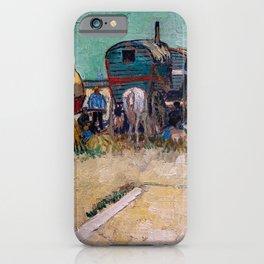 Vincent Van Gogh - Caravans, Gypsy Camp near Arles iPhone Case