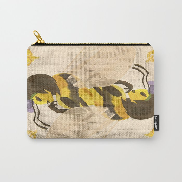 Print: Queen (Bee) of Clubs Carry-All Pouch