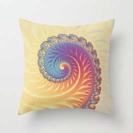 The Glow From Within - Fractal Art Throw Pillow