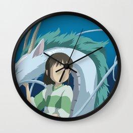 Minimalistic Spirited Away Chihiro and Haku Wall Clock