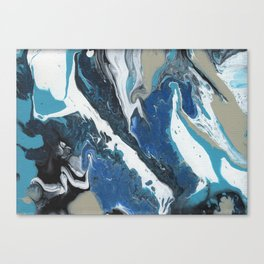 Oceanic 2 of 2 series - Fluid Acrylic Painting Print Canvas Print