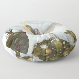 Wonderful fairy  on the rock Floor Pillow