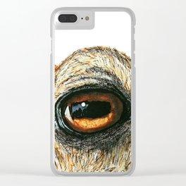 an elk; animal eye portrait Clear iPhone Case