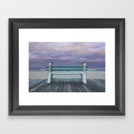Jersey Shore Bench Framed Art Print