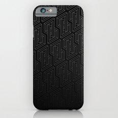 Optical illusion - Impossible Figure - Balck & White Pattern iPhone 6s Slim Case