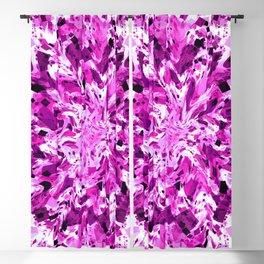 distorted squares, violet Blackout Curtain