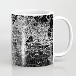 Black and White World Map (1775) Inverse Coffee Mug