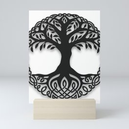 Yggdrasil, the northsmen tree of life Mini Art Print