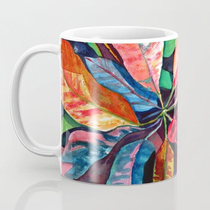 Colorful Tropical Leaves 2 Coffee Mug