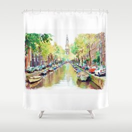 Amsterdam Canal 2 Shower Curtain