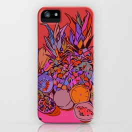 Fruit Still Life//Bananas Oranges Mangos iPhone Case