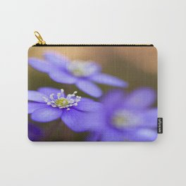 Happy Together Blue Anemones In Forest #decor #Society6 Carry-All Pouch