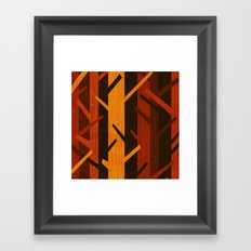 Retro Fall Woods by Friztin Framed Art Print
