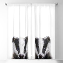 Baby Badger, Baby Animals Art Print By Synplus Blackout Curtain