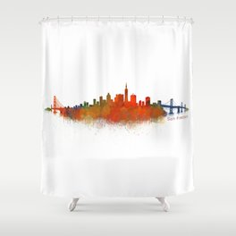 San Francisco City Skyline Hq v2 Shower Curtain