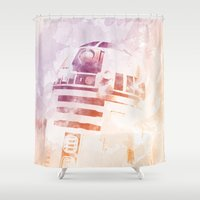 r2d2 Shower Curtains featuring R2D2 by eARTh